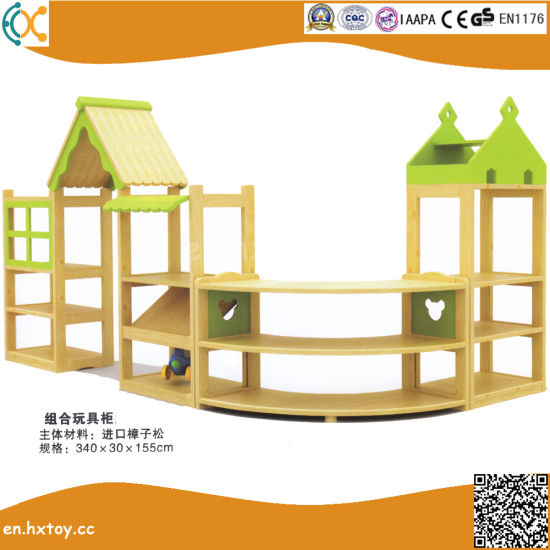 Kindergarten Wooden Toy Shelf for Children