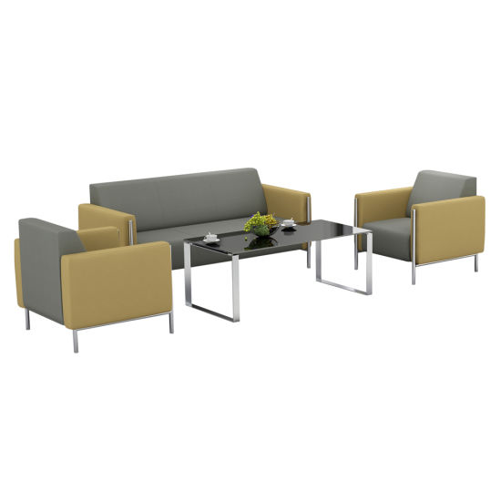 Modern Leather Sofa Sets Office Black Guest