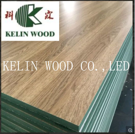 Manufacture Supply 4X8' Melamine Faced Green MDF Wholesale Price
