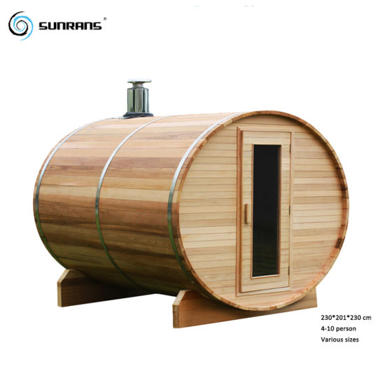 Sunrans Finland Wood 4-10 People Outdoor Barrel Sauna Room