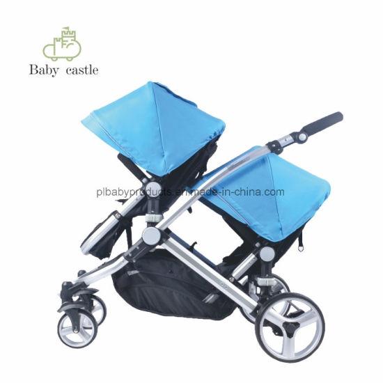 China Favorites Cheap Baby Pushchair Hot Sale Twin Pram Children