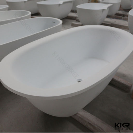 Nice Kingkonree Rectangular Solid Surface Marble Double Apron Bathtub