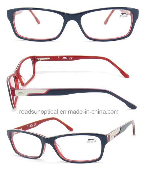 6e767aaab82 2016 New Fashion Italy Design Acetate Eyeglasses for Lady Purple with Spring  Hinge Fullrim Optical Frame
