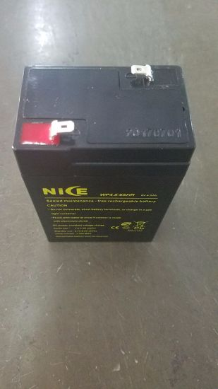 6V 4.5ah VRLA Sealed Lead Acid Maintenance Free UPS Battery pictures & photos