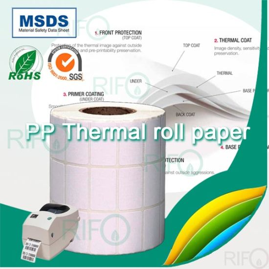 Custom Blank Thermal BOPP Coated Thermal Paper for Bar Coder pictures & photos