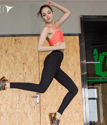 Fashion Women Push up Seamless Cross Back Sport Yoga Bra