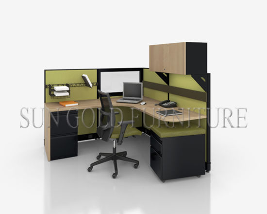 Single Office System Cabin Sound Proof Cubicles With Cabinet (SZ WS519)