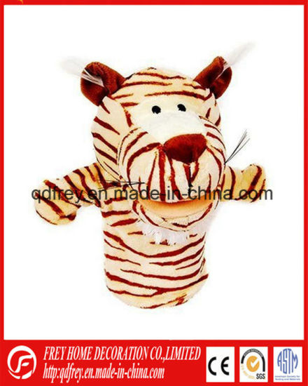 Cute Plush Tiger Hand Puppet for Kids Education