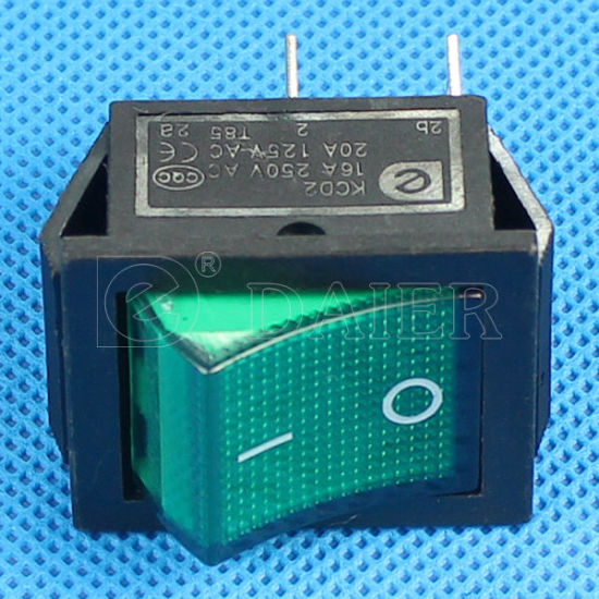 15A 220VAC Light Rocker Electric Switch (KCD2-201N) pictures & photos