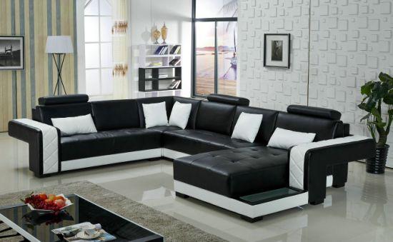 Black And White Color With Led Lighting Sofa Set China
