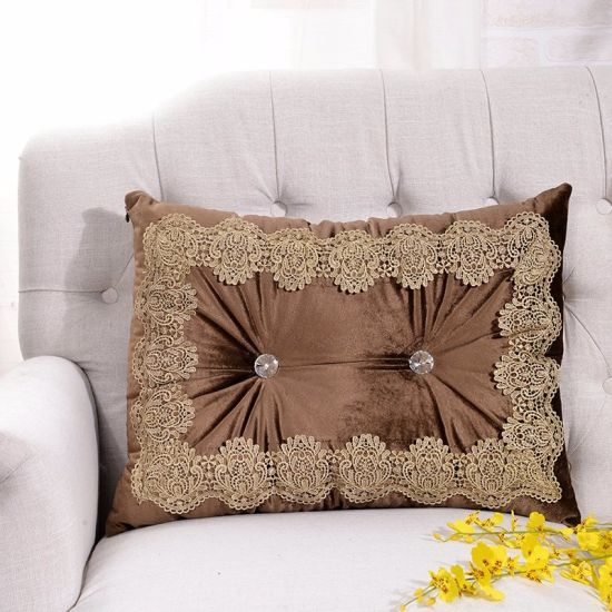 Luxury Decorative Velvet Throw Pillow Sofa and Couch Cushion Pillow pictures & photos