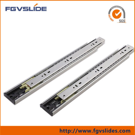 China 45mm 3 Fold Push to Open Drawer Slides - China Push to Open