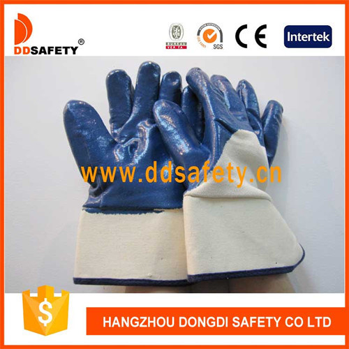 Ddsafety 2017 Blue Nitrile Coated on The Palm and Finger Jersey Liner Gloves pictures & photos
