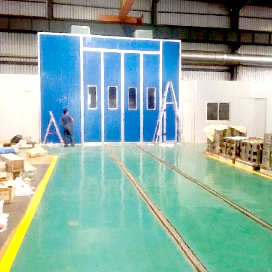 Bus Painting Booth with Ground Rail and Heat Insulation Panel