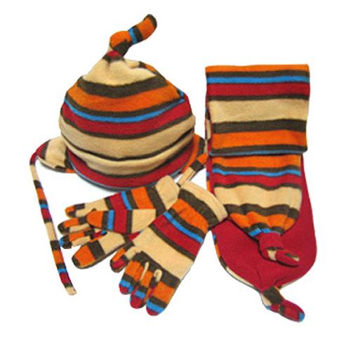 Fleece Hat, Scarf and Glove Set (JRG010)