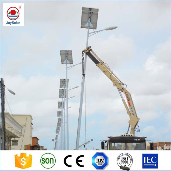 15W-100W Waterproof IP65 Outdoor Solar LED Street Light with 10m Pole for Street, Road