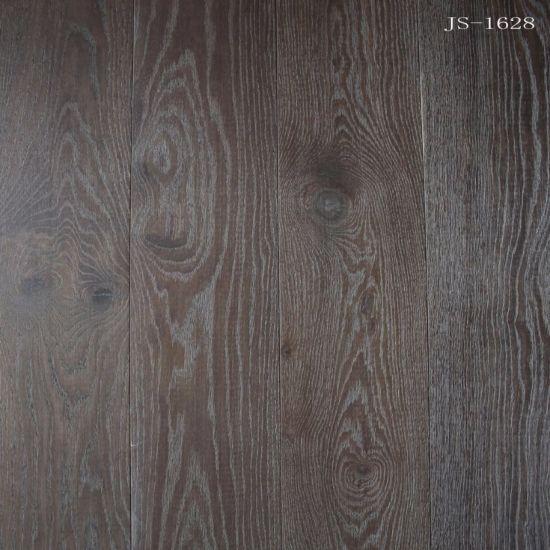 Dark Color Household/Commercial Engineered Oak Wood/Hardwood Flooring