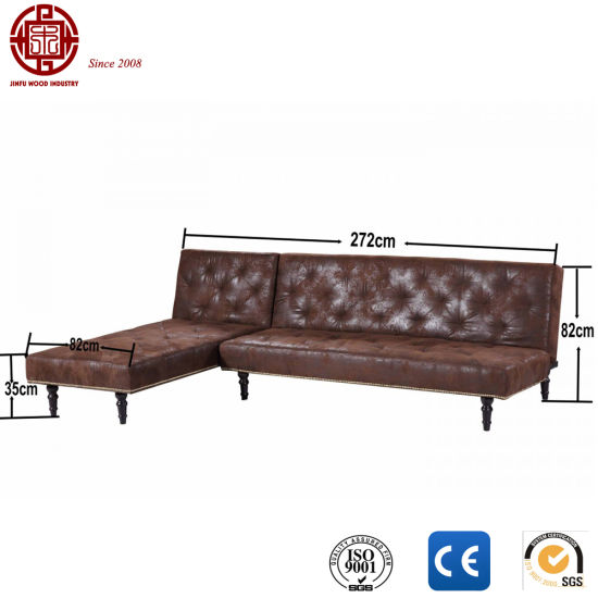 Wine Red Charles Vintage Style Sofa Bed With Ce