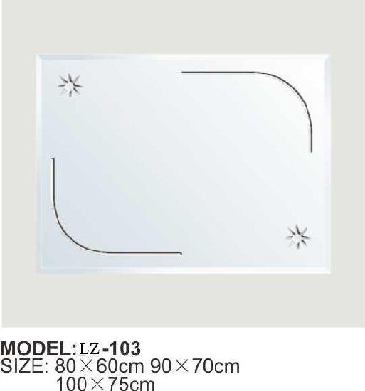 China Frameless Guadrate Bathroom Mirror Lz 103 China Bathroom Mirror Sliver Mirrors