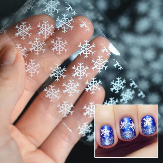 China White Snowflake Nail Foils Clear Nail Foils Christmas Nail Art