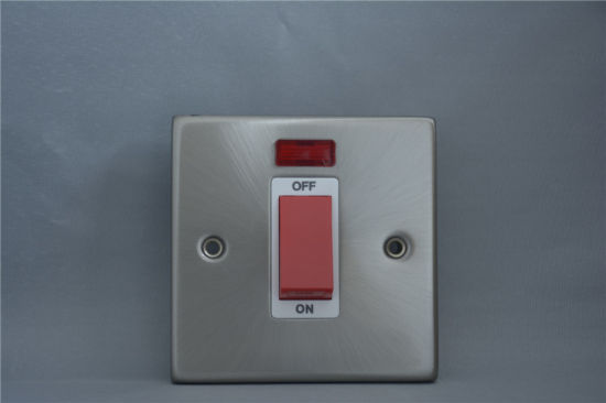 T327 Fb 45A 1gang Double Pole Switch+Neon Single Plate