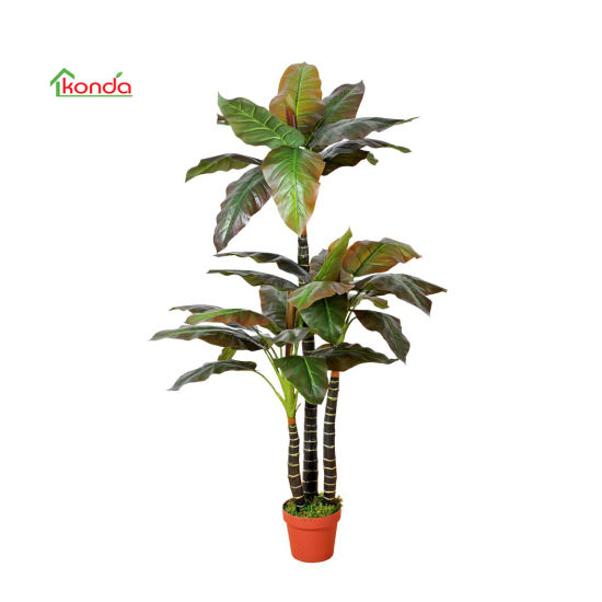 Artificial Green Plant Cordyline Fruticosa with Pot Decoration for Office and Home