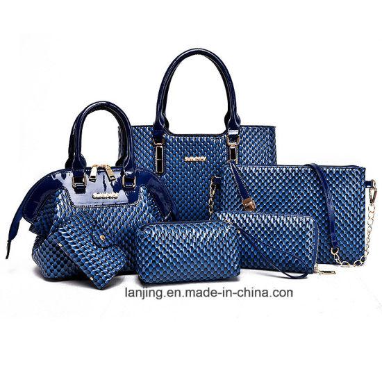 New American Composite Bag Solid Lady Handbag Messenger Bags Shoulder Bag  Women Wallet 6 PCS Set 8d5274f989661