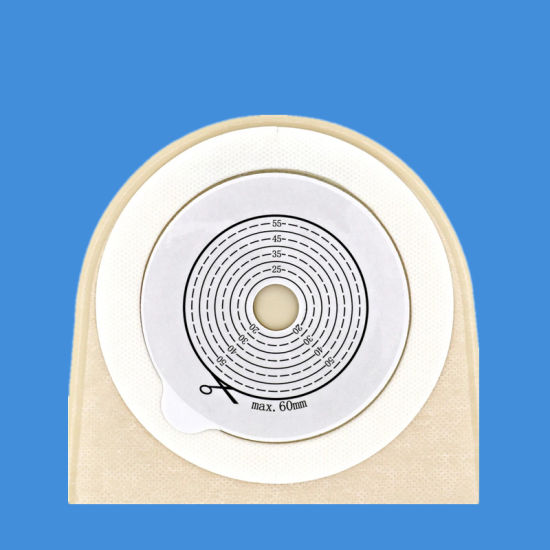 Hotsale Disposable Glue Pan Type Medical Ostomy Bag Twist Tie Closure Colostomy Bag with Non-Woven for Care