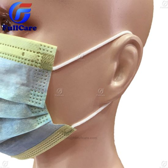 Disposable Nonwoven Super Safe PP Ce Bfe95 Bfe99 ISO 13485 Kids Children 3ply Medical Doctor Surgeon Surgical Hospital Face Mask with Earloops Eyeshield Shield pictures & photos
