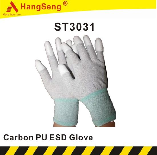 Carbon PU Top Fit Safety Work Glove (ST3031)