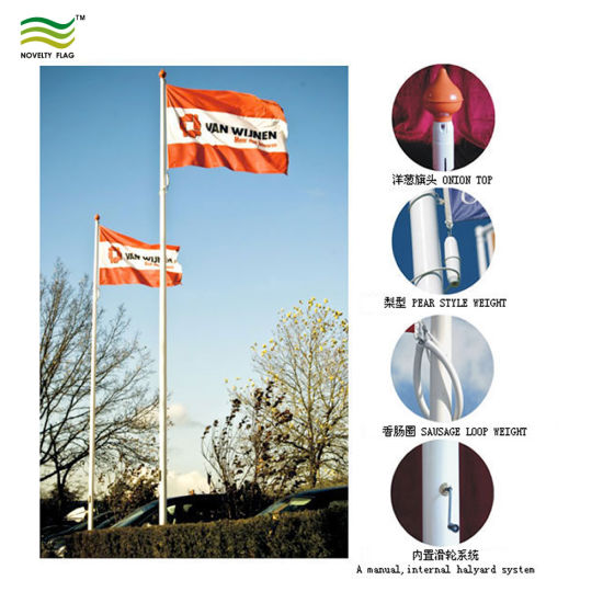 12 Meter Flag Pole Fiberglass Pole for Banner Flags pictures & photos
