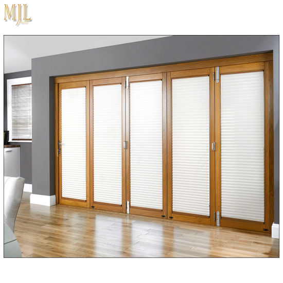 China Commercial Wooden Aluminum Framed Soundproof Bifold Doors with ...