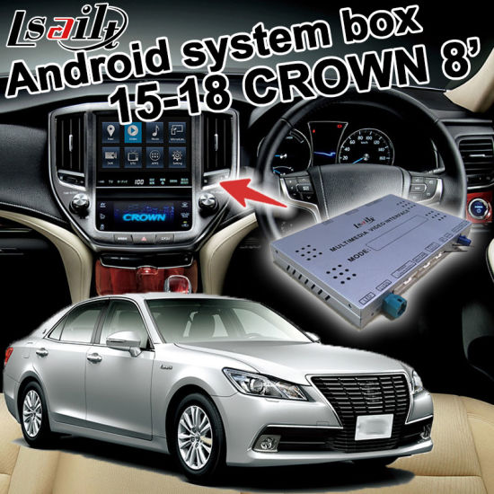Android GPS Navigation System Box for Toyota Crown 8 Inches 2015-2019 Video Interface Carplay pictures & photos