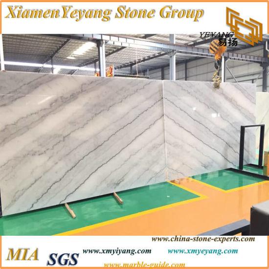 Polished China Carrara/Guangxi White Bianco Crown Marble