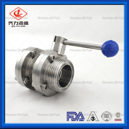 Sanitary Stainless Steel Butterfly Valve for Food Grade Industrial