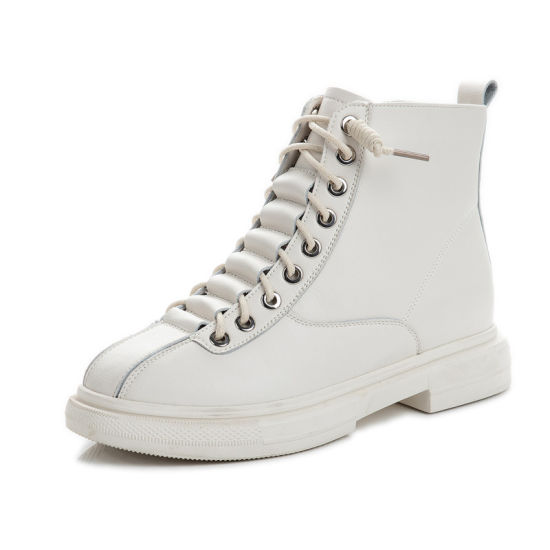2020 Leather Martin Boots for Women British Style Retro Casual Shoes for Women in The Middle of The Thick Heel Ankle Boot Trend