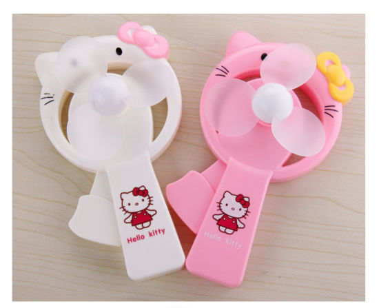 Wholesale Cartoons Lovely Portable Hand Press Mini Fan for Low Price