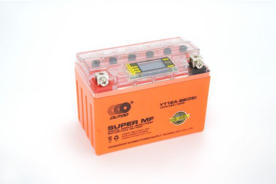 12V 9.5ah Yt12A-BS Outdo Digital Display Gel Mf Maintenance Free Factory Activated Power Sports High Performance Rechargeable Lead Acid Motorcycle Battery