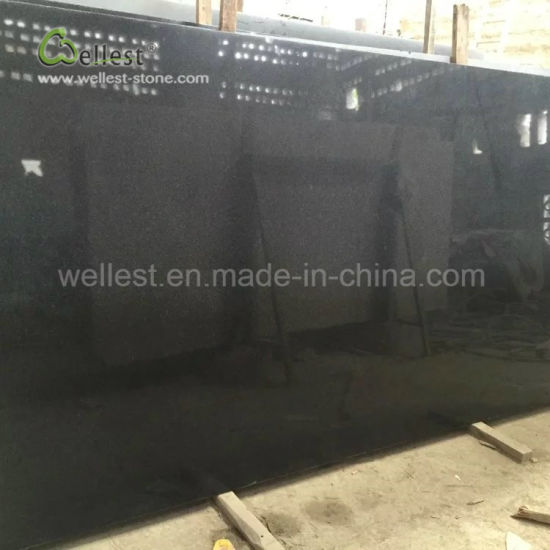 Factory Supply Polish Black Granite Slabs for Countertop Step Tiles pictures & photos