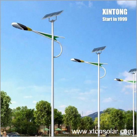 Conical Octagonal Outdoor LED Solar Street Lighting Light Galvanized Pole