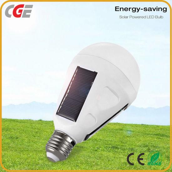 IP65 E27 7W 12W LED Solar Power Camping Light Bulb Rechargeable LED Emergency Solar LED Light Bulb