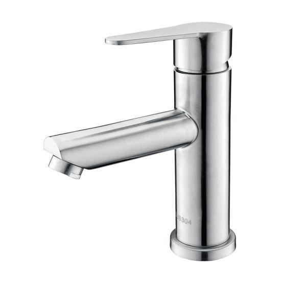 Luolin Bathroom Basin Faucet Stainless Steel 304 Vanity Mixer Sink Tap Bidet Hand Wash Lavatory, Brushed 585-9