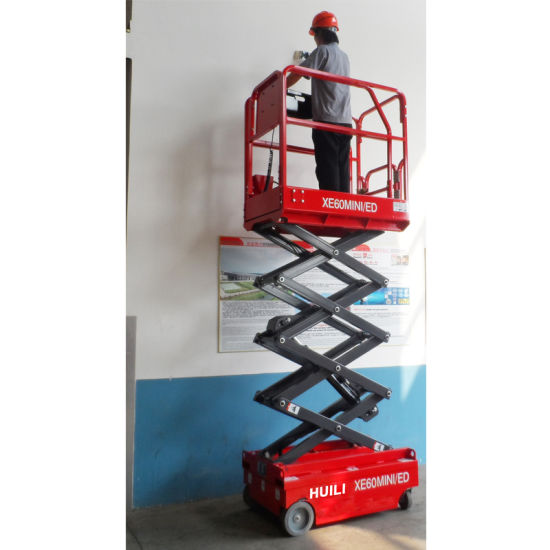 Huili Suspended Skyscraping Tower Scissor Lift Vertical Guide