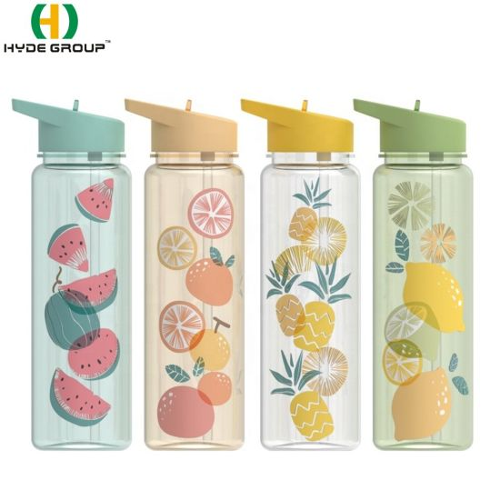 750ml BPA Free Trtian Plastic Water Bottle with Straw (HDP-0460) pictures & photos