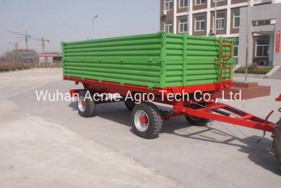 8 Ton High Hurdles Four Wheel Farm Trailer for Agriculture