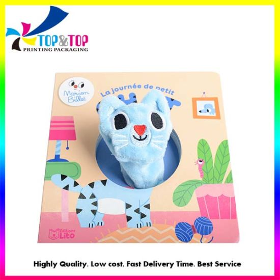 Custom 3D Touch and Feel Cat Board Book Printing for Children Baby