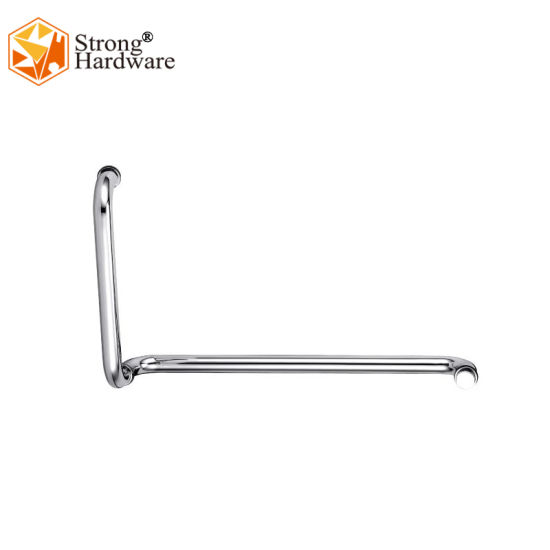 Dh-114 Glass L-Shape Glass Pull Clips Lever Door Handle pictures & photos
