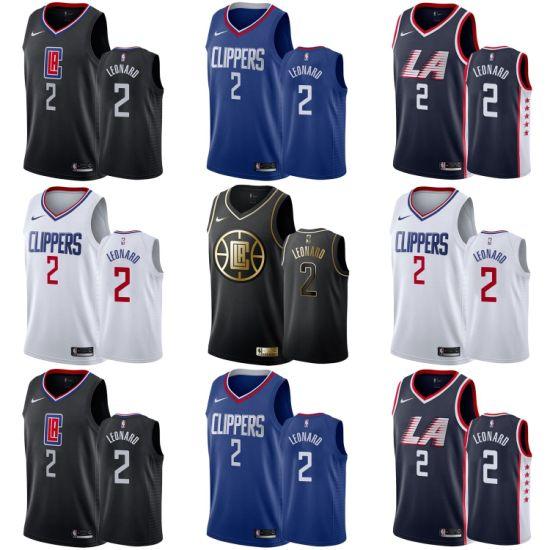 2019 N-B-a Draft Los Angeles Clippers 2 Kawhi Leonard Basketball Jerseys