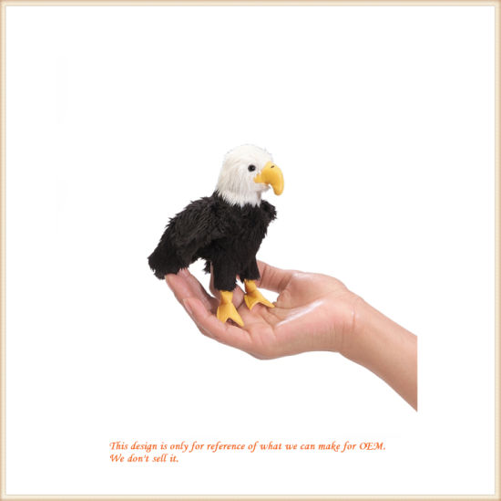 Wholesale Kids Studying Plush Toys Eagle Finger Puppet