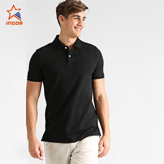 Wholesale Cotton Black Dry Men's Sportswear Gym Workout Polo Shirt